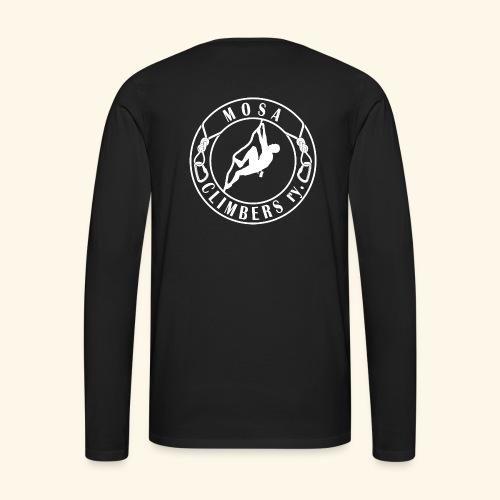 Mosa Climbers white - Miesten premium pitkähihainen t-paita