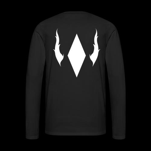 Crystal With Wings WGDK Hvid - Herre premium T-shirt med lange ærmer