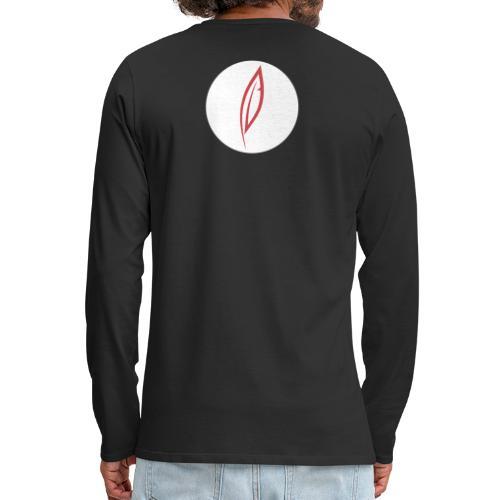 Logo - Rond blanc (dos) - T-shirt manches longues Premium Homme