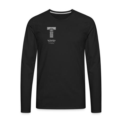 TATRATEA LOGO white - Männer Premium Langarmshirt