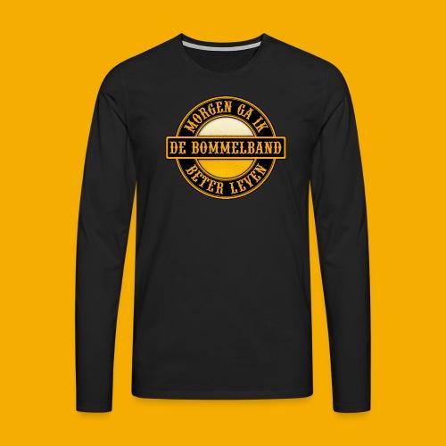 Logo Zwart Geel 2 - Mannen Premium shirt met lange mouwen