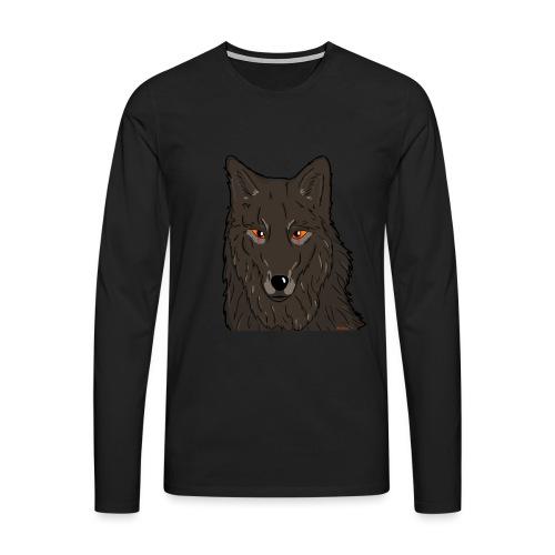 HikingMantis Wolf png - Herre premium T-shirt med lange ærmer