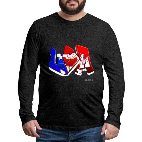 USA - T-shirt manches longues Premium Homme