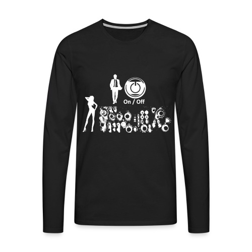 Man and Woman neg - Männer Premium Langarmshirt