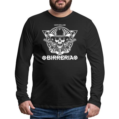Sheriff Skull with Revolver - Männer Premium Langarmshirt