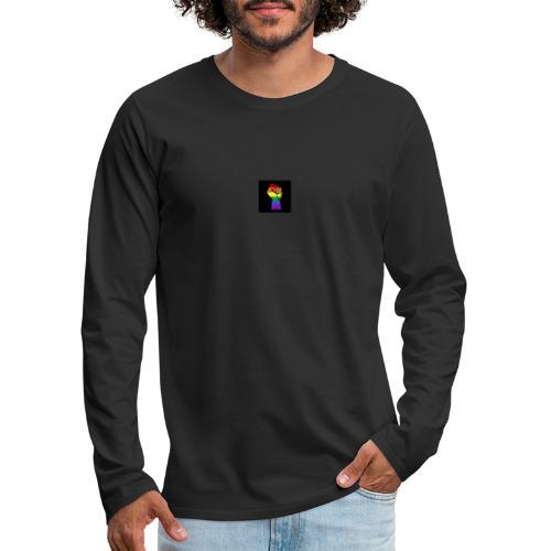 Lgbt Faust Protest schwarzer Hintergrund - Männer Premium Langarmshirt