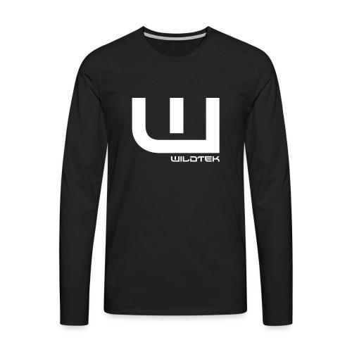 Wildtek Logo White - Men's Premium Longsleeve Shirt