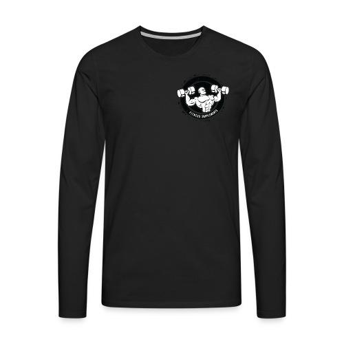 Fitness supplements - Herre premium T-shirt med lange ærmer