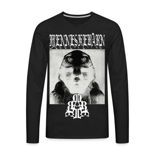 menneskebarn cover artwork inverted - Herre premium T-shirt med lange ærmer