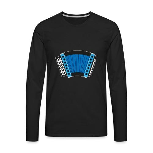 Schwyzerörgeli blau schwarzer Hintergrund - Männer Premium Langarmshirt