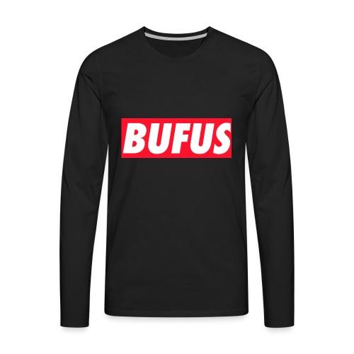 BUFUS - Maglietta Premium a manica lunga da uomo