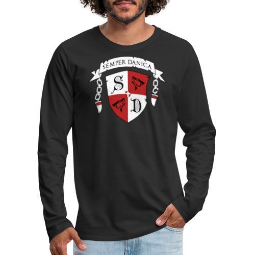 SD logo - hvide lænker - Herre premium T-shirt med lange ærmer
