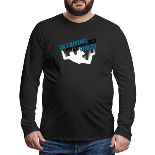 skydiving - Koszulka męska Premium z długim rękawem