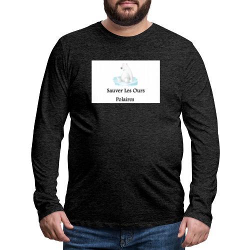 Sauver Les Ours Polaires - T-shirt manches longues Premium Homme