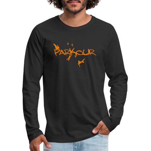 Parkour Orange - Herre premium T-shirt med lange ærmer