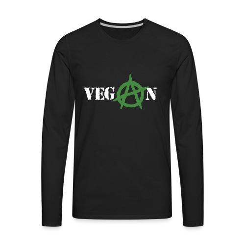 vegan anarchy - Maglietta Premium a manica lunga da uomo