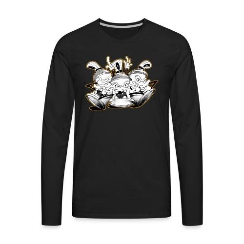 See no evil, Hear no evil, Speak no evil - Herre premium T-shirt med lange ærmer