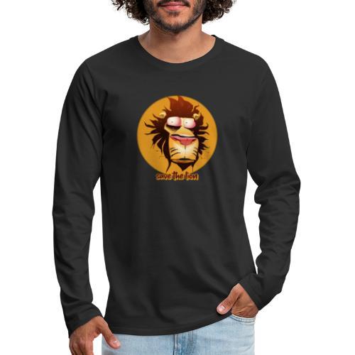 Print leeuwenkop - Mannen Premium shirt met lange mouwen