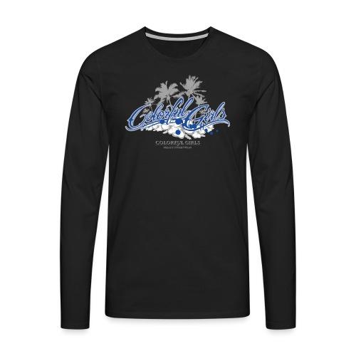 Colorful Girls Logo - Männer Premium Langarmshirt