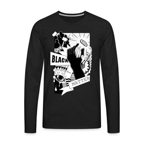 black lives matter - Mannen Premium shirt met lange mouwen