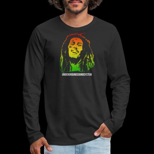 King of Reggae - Männer Premium Langarmshirt