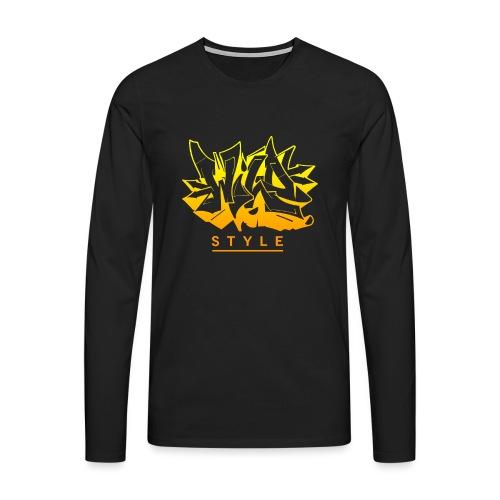 Wild Style Graffiti Design - Herre premium T-shirt med lange ærmer