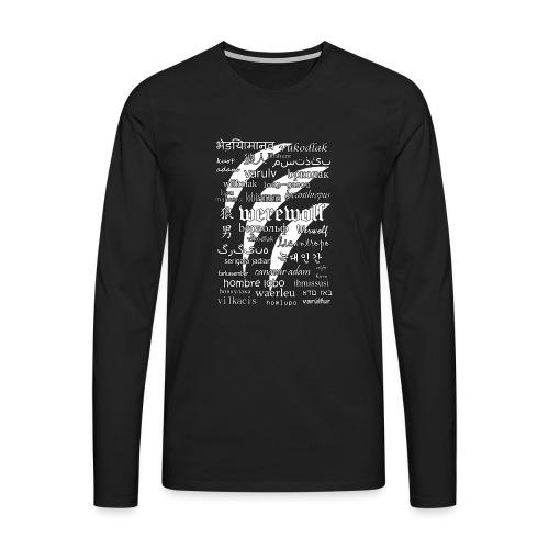 Werewolf in 33 Languages (Black Ver.) - Men's Premium Longsleeve Shirt