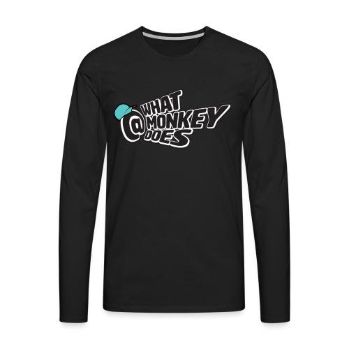 What Monkey Does Instagram Logo - Men's Premium Longsleeve Shirt