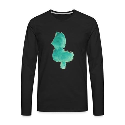 grünes Küken - Männer Premium Langarmshirt