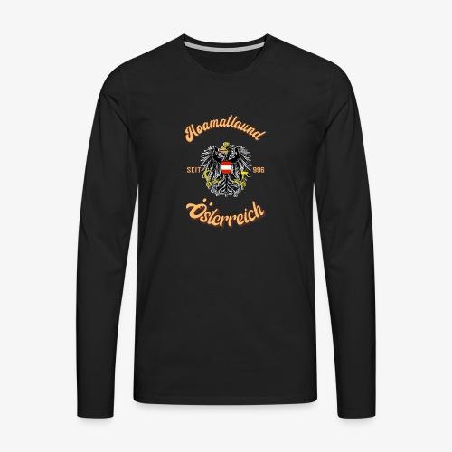 Österreich hoamatlaund retro desígn - Männer Premium Langarmshirt