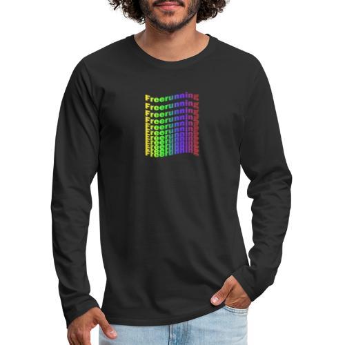 Freerunning Rainbow - Herre premium T-shirt med lange ærmer