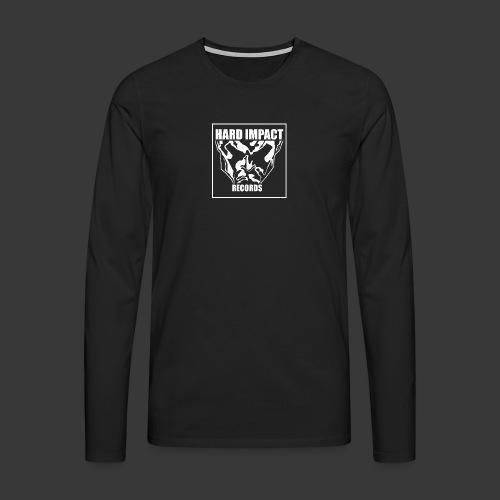 Hard Impact Records - Maglietta Premium a manica lunga da uomo