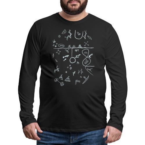 Runebomme - Premium langermet T-skjorte for menn
