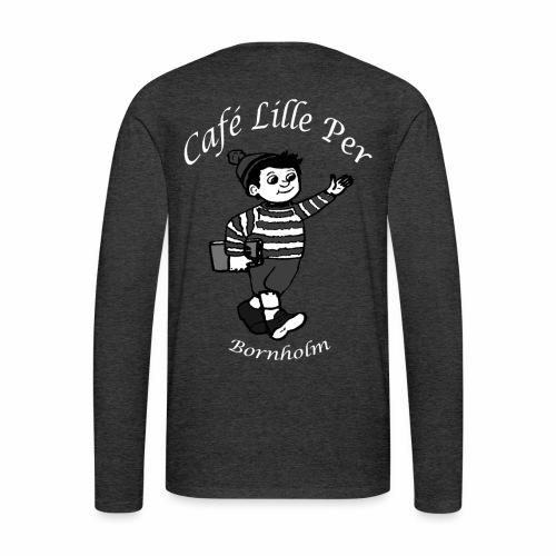 Cafe LillePer Logo BW - Herre premium T-shirt med lange ærmer