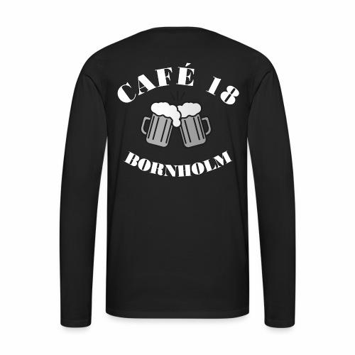 Cafe 18 BW - Herre premium T-shirt med lange ærmer