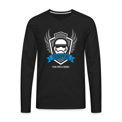 SCHEMA Logo V - Männer Premium Langarmshirt