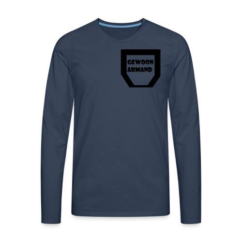 Gewoon Armand #TEAM - Mannen Premium shirt met lange mouwen