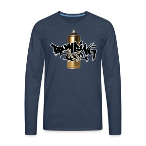 Golden Spray Can Bombing Tool - Männer Premium Langarmshirt