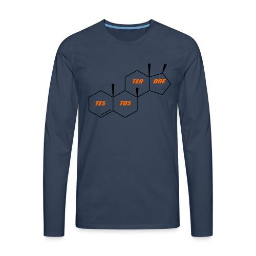 Testosterone T Shirt, Testosterone Hoodie, Gift, - Men's Premium Longsleeve Shirt