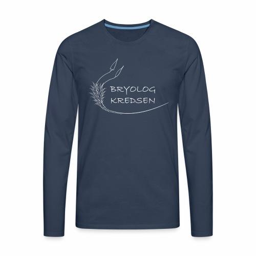 Bryologkredsen - hvidt logo - Herre premium T-shirt med lange ærmer