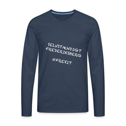 Selvstændigt Frederiksberg #FREXIT - Herre premium T-shirt med lange ærmer