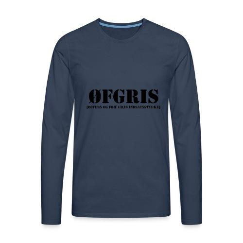 ØFGRIS - Premium - Herre premium T-shirt med lange ærmer