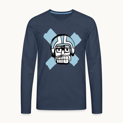 Motard Junior - Blue - T-shirt manches longues Premium Homme
