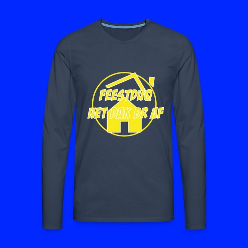 Geel Logo - Mannen Premium shirt met lange mouwen