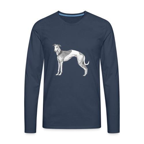 whippet - Herre premium T-shirt med lange ærmer