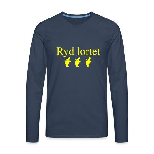 Ryd Lortet - Herre premium T-shirt med lange ærmer