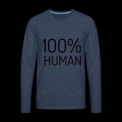 100% Human - Mannen Premium shirt met lange mouwen