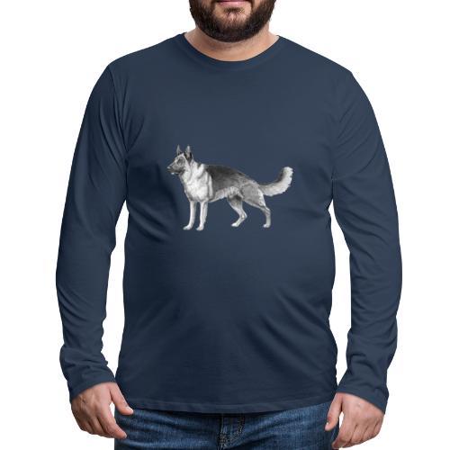 German shepherd schæfer ink - Herre premium T-shirt med lange ærmer