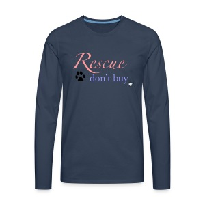 Rescue don't buy - Men's Premium Longsleeve Shirt