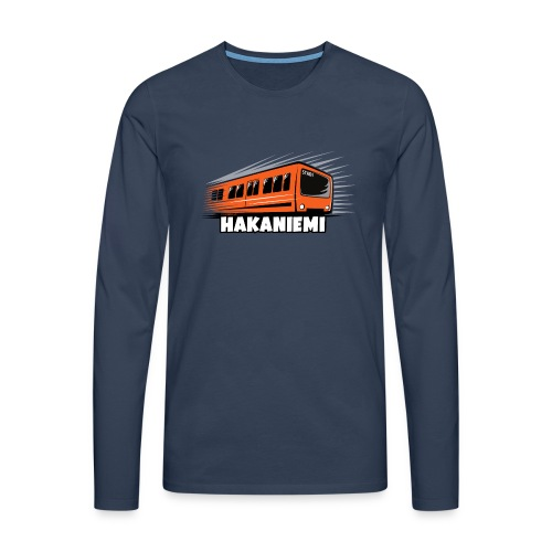 13- METRO HAKANIEMI - HELSINKI - LAHJATUOTTEET - Miesten premium pitkähihainen t-paita